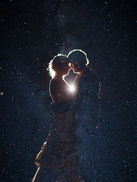 great idea  superimpose  night sky   cute couple