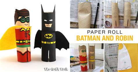 paper roll batman  robin  craft train