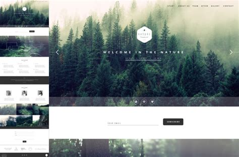 nature   page html template themes templates