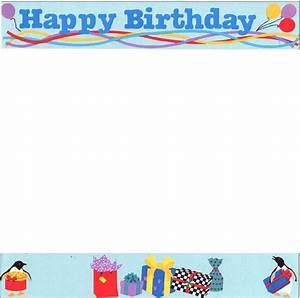 CLIP ART BORDERS: Free Birthday Borders