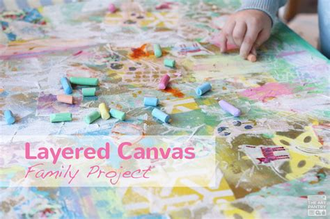 layered canvas family project  art pantry