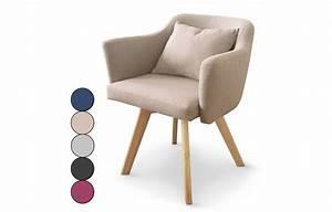 Chaise Scandinave Accoudoir : chaise fauteuil scandinave dantes tissu 5 coloris ~ Teatrodelosmanantiales.com Idées de Décoration