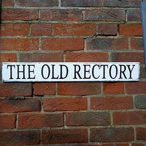 Personalised, Vintage, Style, Wooden, House, Sign, By, Potting, Shed, Designs
