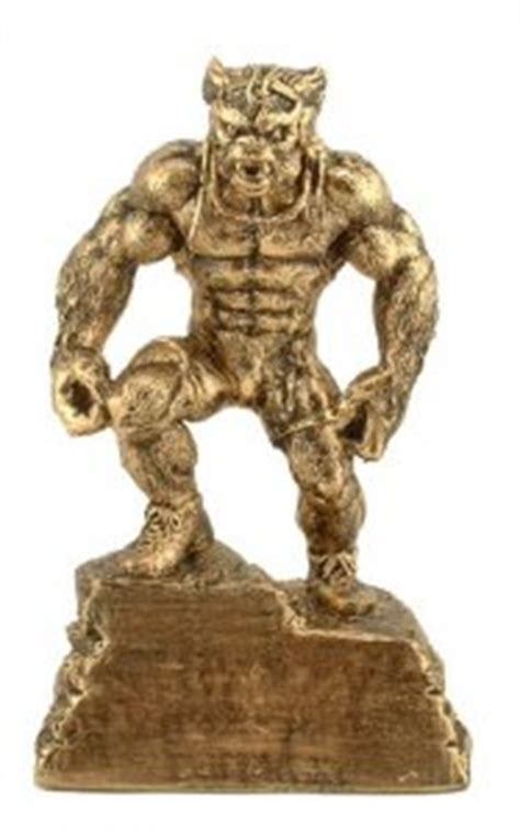wrestling trophies beast monster sculpture statue