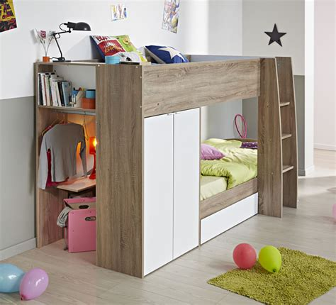 parisot stim bunk bed   door wardrobe  home
