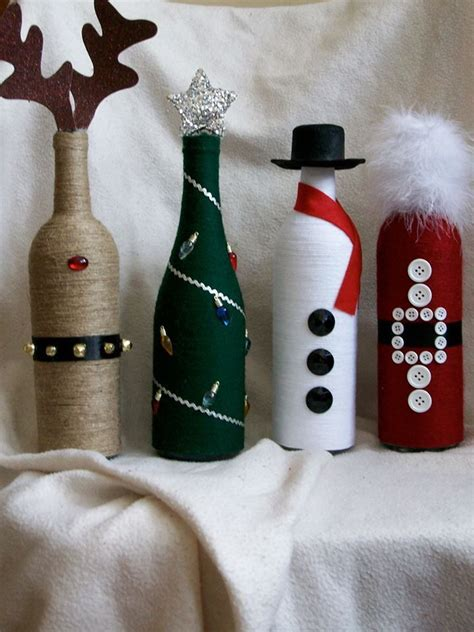 christmas decor wine bottles wine bottle crafting
