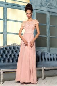 sleeve bridesmaid dress prom dresses pink lace cap sleeves applique tencel bridesmaid dress s767