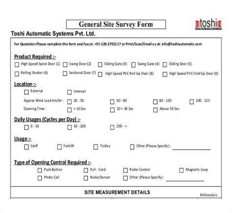 survey formats templates site survey templates 12 free word pdf documents free premium templates