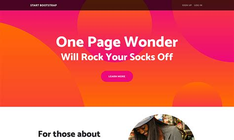 One Page Website Template Free Bootstrap One Page Themes Start Bootstrap