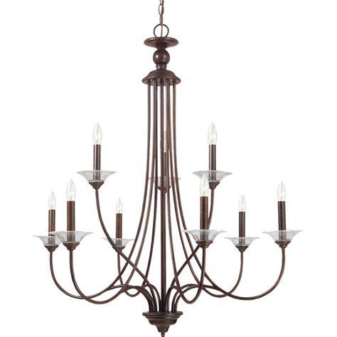 sea gull lighting chandelier sea gull lighting lemont 9 light burnt sienna single tier