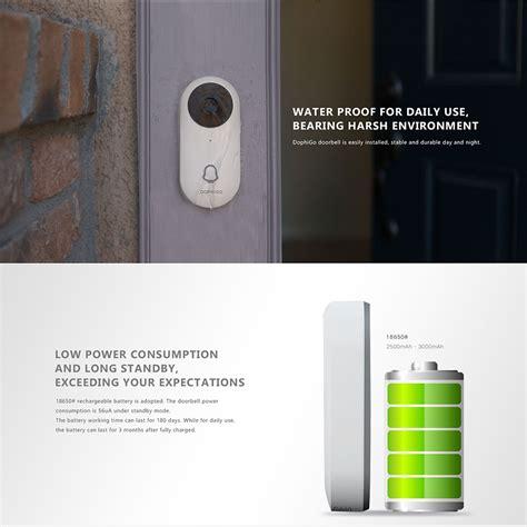 yoosee dophigo battery powered smart video doorbell camera