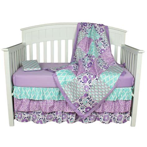 peanut shell baby girl crib bedding set purple