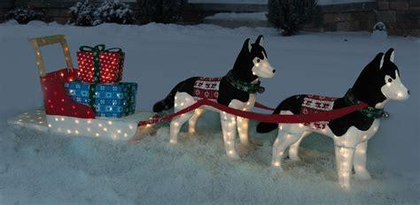 Huskie Sled Dog Team Tinsel-light Display 069-161400250-0
