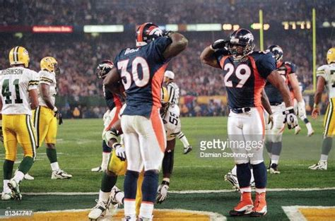 Super Bowl Xxxii Denver Broncos Howard Griffith And