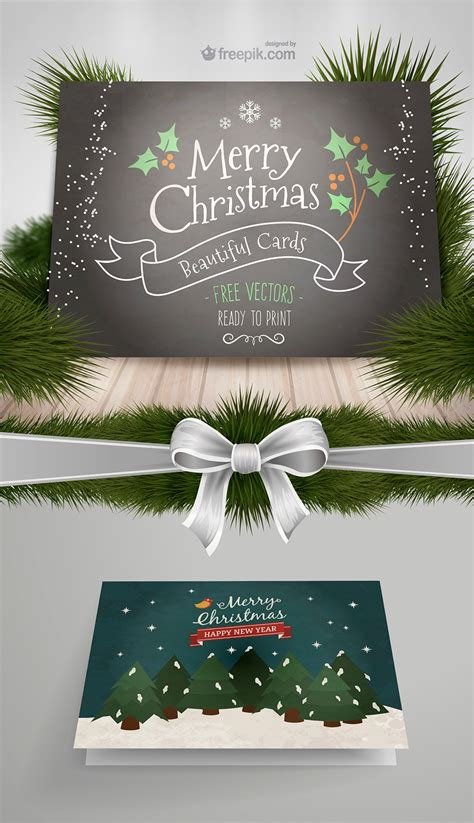 10 new cards from freepik and more free resources for your christmas projects
