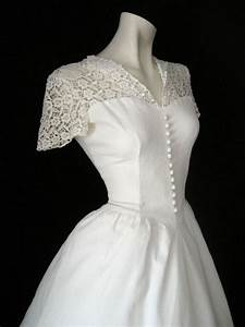 40s style short sleeves wedding dress sang maestro With 40s style wedding dresses