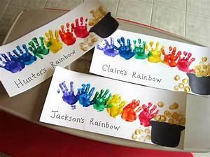 St. Patrick's Day Footprint & Handprint Crafts for Kids ...