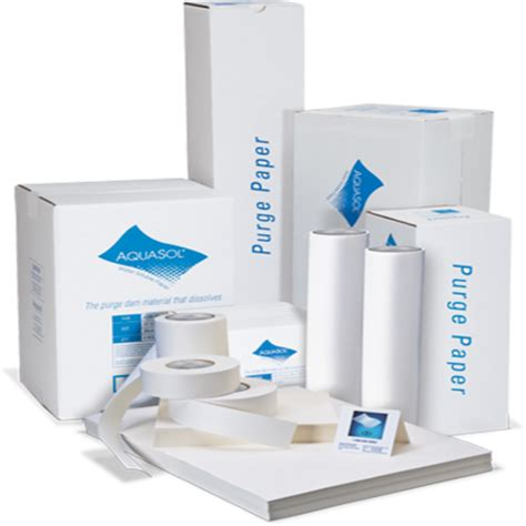 purging solutions water soluble purge dam paper asw