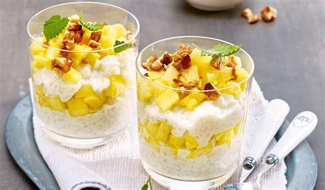 riz au lait de coco et ananas