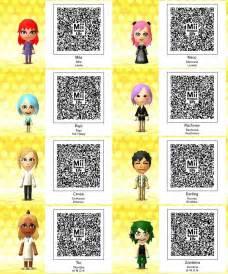 Tomodachi Life QR-Codes Anime