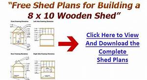8x12 Wooden Shed Construction Diagrams