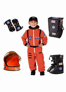 Nasa Orange Astronaut Boys Costume Set - Professional Costumes