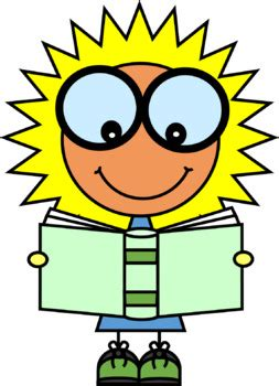 brainy suns   book clip art  clip factory