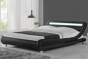 King Size Bed : madrid led lights modern designer bed black faux leather single double king crazy price beds ~ Buech-reservation.com Haus und Dekorationen