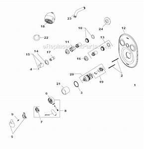 Delta Faucet T18230 Parts List And Diagram