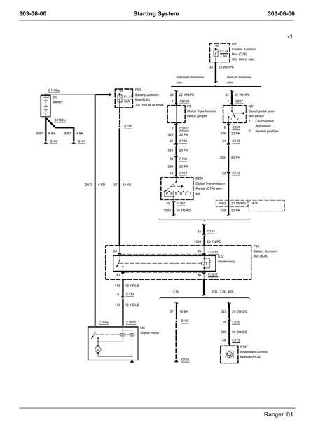 starter motor relay wiring diagram wiring diagram