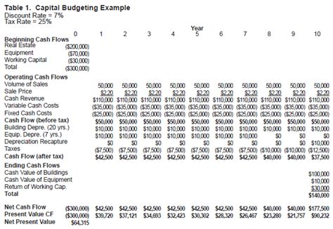 constructing  capital budget ag decision maker