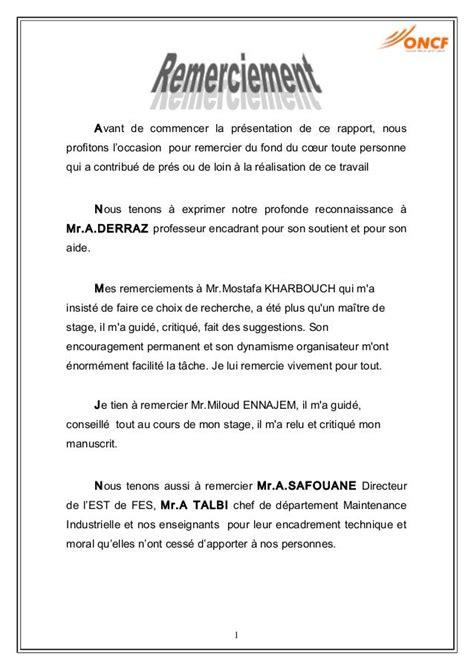 rapport de stage en cuisine exemple exemple lettre de remerciement rapport de stage 3eme 9