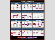 Karnataka Holidays 2016
