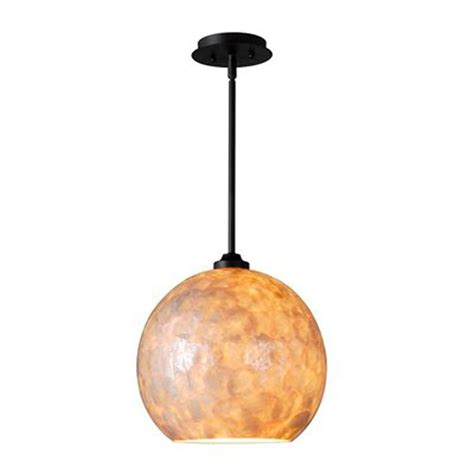 capiz shell globe pendant light large