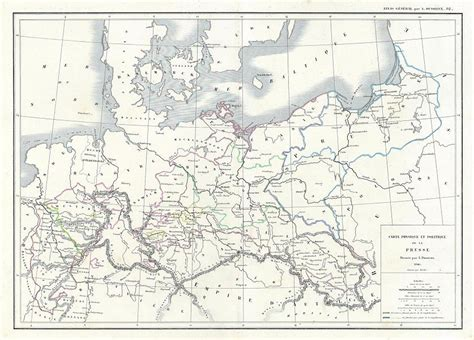 Germany Prussia Map 1860
