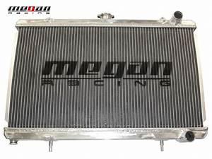 Megan 2 Row Aluminum Radiator For 240sx S13 89