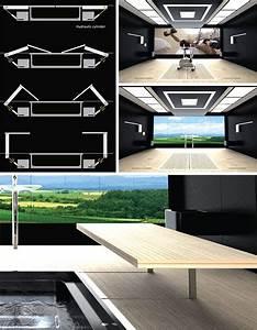 Futuristic Bathroom Layout: High-Tech Space-Saving Design
