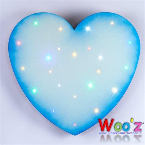 kinderkamer wandlamp heart blue kinderkamerlampennl