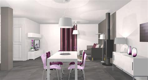 deco chambre gris et mauve idée déco salle à manger gris et violet