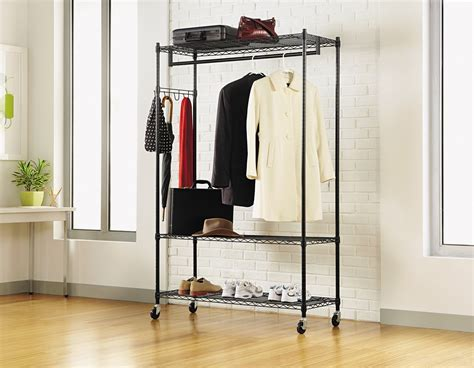 clothes racks for best heavy duty rolling garment clothes racks reviews