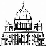 Coloring Cathedral Pages Famous Dom Landmarks Berlin Germany Places Church Dome Rock Printable Designlooter Sketch Berliner 43kb 560px Template sketch template