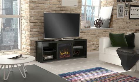 Huntington Electric Fireplace Tv Stand In Black Walnut
