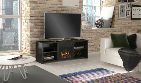 huntington electric fireplace tv stand  black walnut