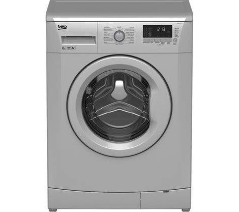 lave linge beko silver buy beko wmb61432s washing machine silver free delivery currys