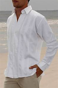 Mens attire beach wedding cyprus groom and party for Wedding dress shirts for groom