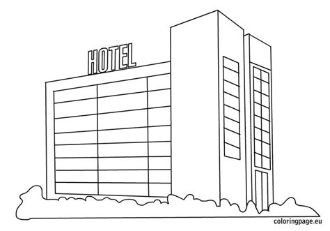 hotel coloring picture coloring page