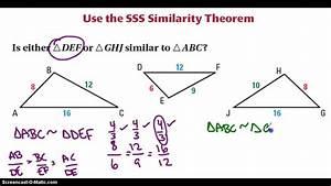 SSS Similarity Theorem - YouTube