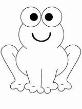 Frog Coloring sketch template