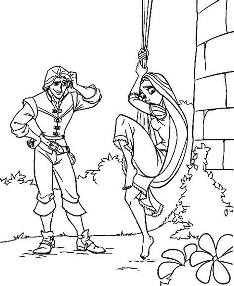 tangled rapunzel  flynn coloring pages sketch coloring page