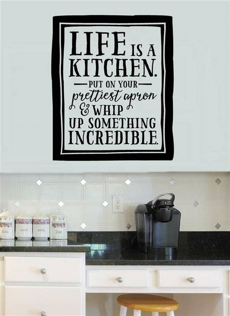 Kitchen Decor Vinyl by Is A Kitchen Vinyl Decal Wall Stickers Words